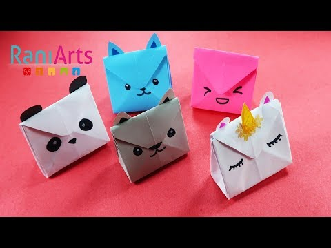 DIY - BOLSAS DE PAPEL KAWAII - CUTE PAPER HANDBAGS - FÁCIL - EASY