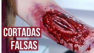 COMO HACER CORTADAS HERIDAS Y SANGRE FALSA PASO A PASO
