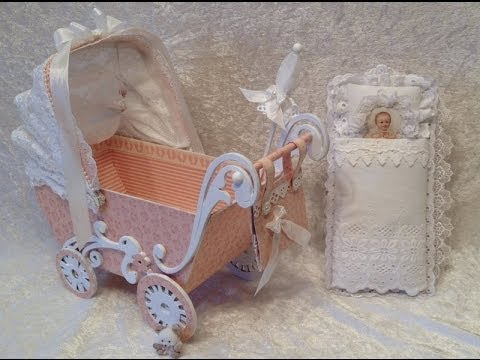 Sweet baby stroller with mini album inside – Blog tutorial. Pion Design GDT project