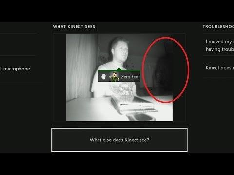 當這名男子使用KINECT的紅外線感應器,竟發現房間裡有…