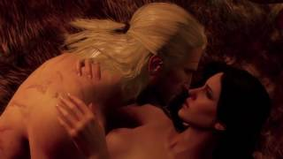 The Witcher 3: Wild Hunt - Geralt and Yennefer making love in Kaer Morhen