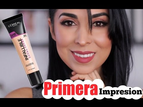 Primera Impresion Y Tutorial |  Loreal Infallible 24 Hrs Total Coverage Maquillaje Foundation
