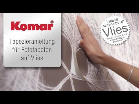 Komar Fototapeten auf Vlies - Tapezieranleitung: so einfach ist tapezieren!