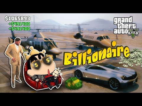 GTA-5 'SHINCHAN' Finally Becomes Richest Billionaire By Selling All Luxurious Cars(Part-3)