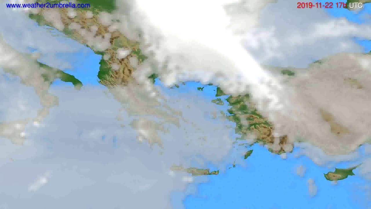 Cloud forecast Greece // modelrun: 00h UTC 2019-11-21