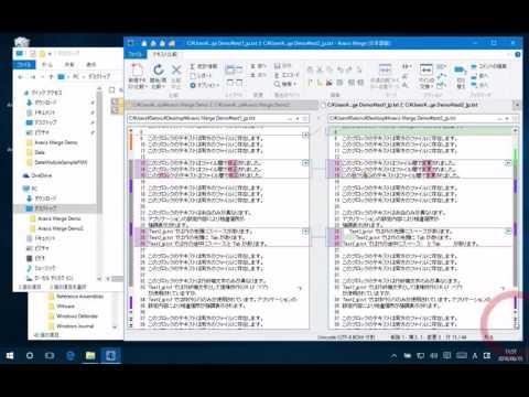 Araxis Merge ファイル比較の画面構成