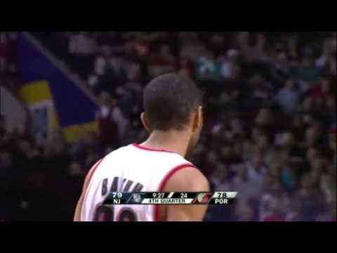 Nicolas Batum's crazy shot against the Nets