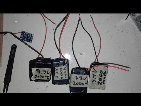 How To Recycle And Get Free 3.7V 2000mah Li-ion Rechargeable Battery From Old  Phone Batteries