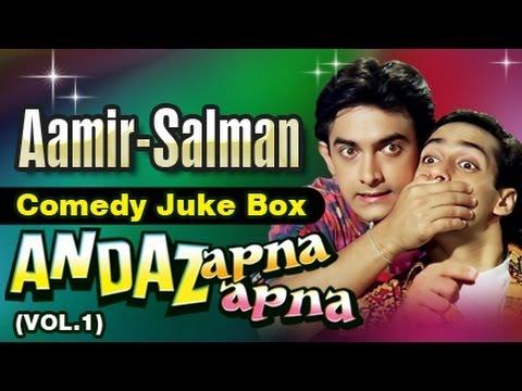 Video Salman Khan, Aamir Khan Best Comedy Scenes Jukebox 9 - Andaz Apna Apna download in MP3, 3GP, MP4, WEBM, AVI, FLV January 2017
