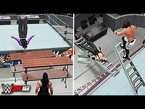 WWE 2K18 Top 10 Awesome Moments vs Epic Fails!!