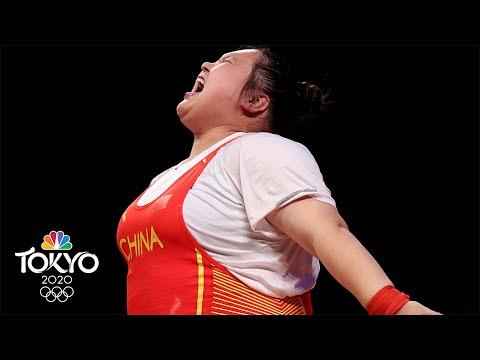 Li Wenwen breaks ALL THREE Olympic records for 87kg+ gold | Tokyo Olympics | NBC Sports