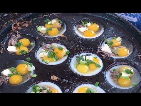 Volcano Octopus Egg Omelette For Breakfast - Vietnam street food