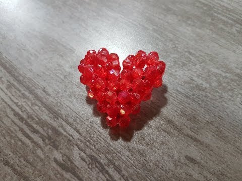 How To Make A 3D Beaded Heart!!