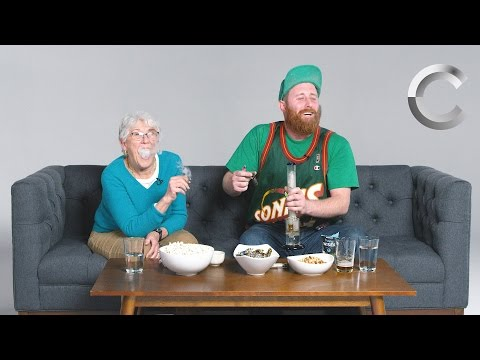 Dude Smokes Weed with his Grandma for the First Time