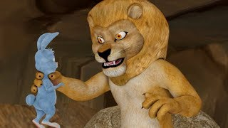 The Big Lion And The Rabbit   Stories for Children   Infobells
