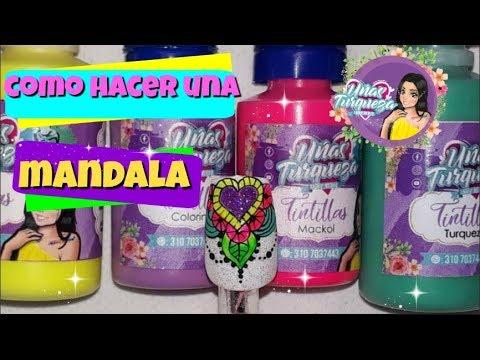 Diseño de uñas Mandalas - Mandalas Nail art tutorial-Mandala en Uñas