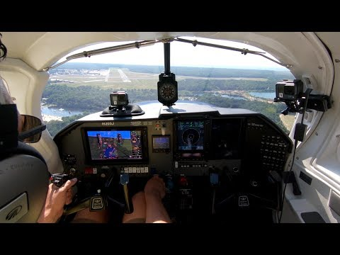 Mooney M20J 205 SE Flight To KWWD & Garmin G500 TXi W/ EIS