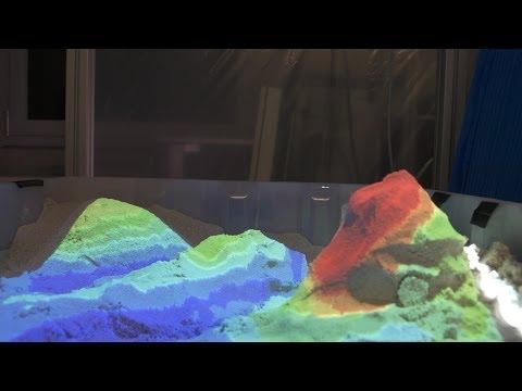 Intelligenter Sandkasten und lichtscheuer Käfer