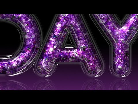 How to Make Glitter-filled, Glass TEXT in Photoshop
