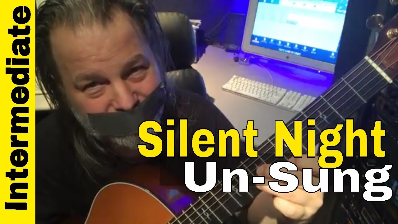 How To Play SILENT NIGHT on Guitar Fingerstyle- Learn this SIMPLE  Arrangement Lesson 2