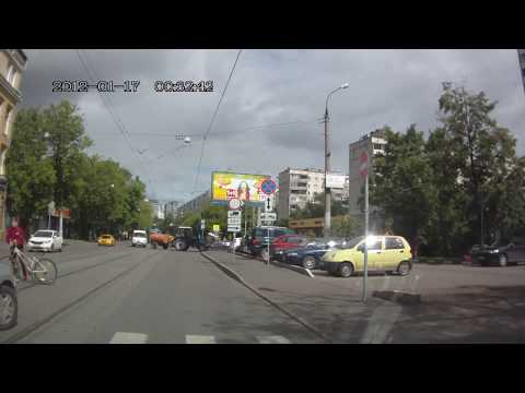 Авария с велосипедистом в Москве
