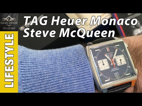 Tag Heuer Monaco Steve McQueen Watch Review • Luxury Lifestyle Channel • CAW211P.FC6356