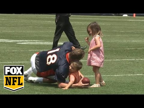 Video: Peyton Manning's adorable practice with his kids