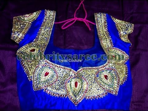 Blouse - More Designs at http://www.celebritysaree.com Checkout latest collection saree blouse designs, Beautiful silk designer blouses or bridal attire saree blouse ...