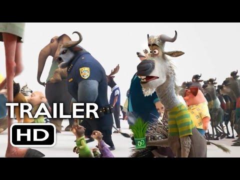 Filmes de animação completos dublados 2017 lançamento - Zootopia Official Trailer #1 (2016) Jason Bateman Disney Animated Movie HD