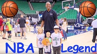 Video Kids meet a REAL NBA Basketball Player Legend! MP3, 3GP, MP4, WEBM, AVI, FLV Juli 2018