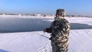 Ловля хариуса зимой по открытой воде + Видео