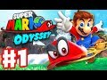 Super Mario Odyssey - Gameplay Wathrough Part 1 - Cap and Cascade Kingdom! (Nintendo Switch)