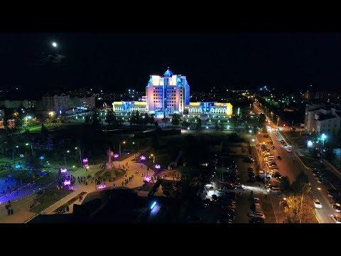 Югорск, день города 2017, 55 лет, салют, видео с коптера