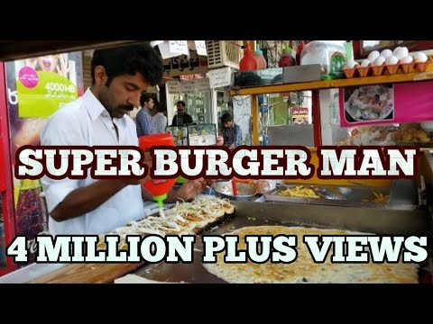 Amazing Street Food Lahore Pakistan Egg Burger