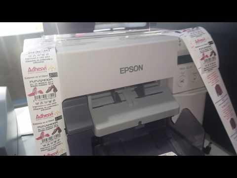 Epson tm-c3500 imprimiendo poliamida a color видео