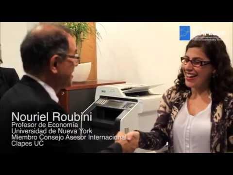 El economista Nouriel Roubini visita Clapes UC