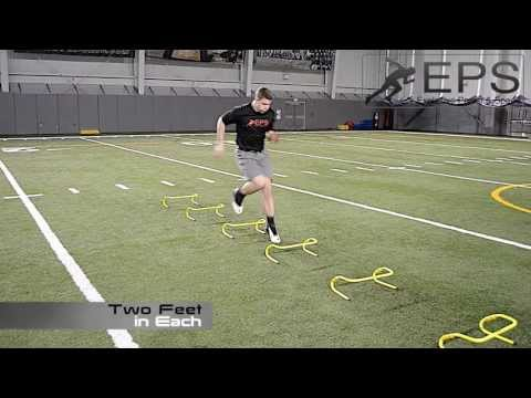Adjustable Training Hurdle - Instructional Drills Video (Improve Speed and Footwork)