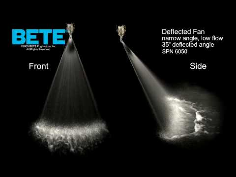 SPN 6050 - Narrow Angle, Low Flow Deflected Fan Spray Pattern Video