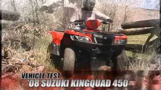 8. ATV Television Test - 2008 Suzuki King Quad 450