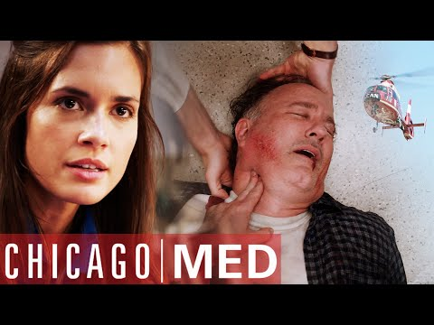 Heart ATTACK After Airlifted Rescue | Chicago Med