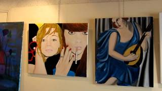 Pujols France  city images : Exhibition of Paintings by artist Victoria Richings at Pujols France