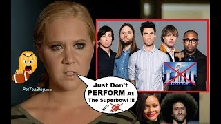 Amy Schumer Calls Out Maroon 5 to Drop Out of SUPERBOWL like Rihanna did! ❌🏈👎
