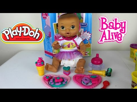 Video Baby Alive  Play-Doh Birthday Party | Play-Doh Baby Alive Fiesta de Cumpleaños download in MP3, 3GP, MP4, WEBM, AVI, FLV January 2017