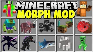 Download Lagu Minecraft MORPH MOD   SHAPE SHIFT INTO ANY MINECRAFT BOSS OR YOUTUBER!! Mp3