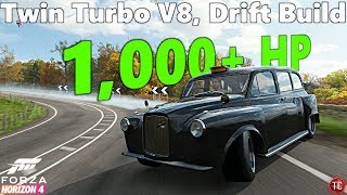 Forza Horizon 4: Austin FX4 Taxi WIDEBODY, 1,000+ HP Drift Build!