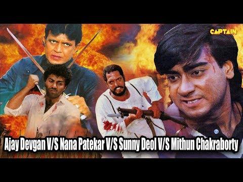 Top Bollywood Action Scenes    Ajay Devgan V/S Nana Patekar V/S Sunny Deol V/S Mithun Chakraborty