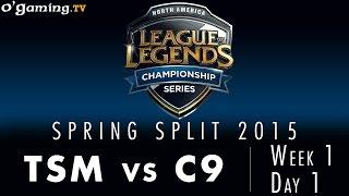 LCS NA Spring 2015 - W1D1 - TSM vs C9