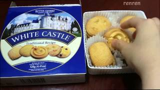 renren] White Castle Traditional Recipe Butter Cookies 화이트 캐슬 버터쿠키