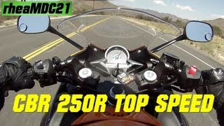 4. Honda CBR 250R TOP SPEED - CBR 250R with M4 exhaust Top Speed