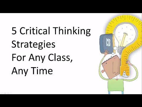 critical thinking strategy Learn five simple strategies for teaching critical thinking in any class, at any time help students develop strong habits of mind to deepen their learning a.